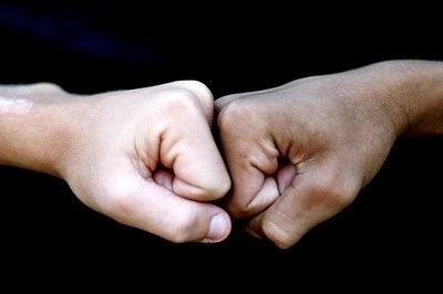 What is a fist bump