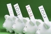 debt piggy banks homespun