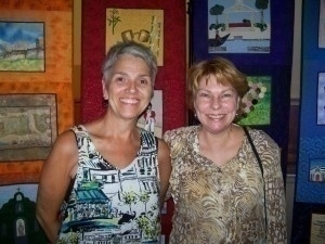 PNR - Debby Craggs and An Marshall (in front of the quilt) (1)