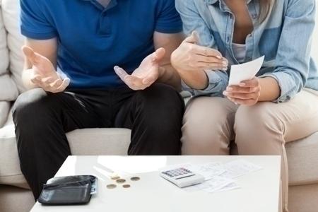 Not enough money for bills