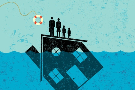 Underwater Homeowners Sink Deeper, Even as Home Values Rise