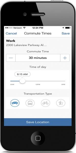 DriveTime_Set Commute_Time