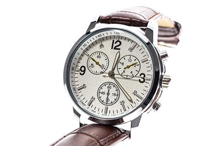 Mens luxury round swiss mechanical wrist watch with leather wris