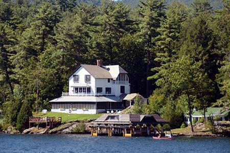 Luxury lakefront home