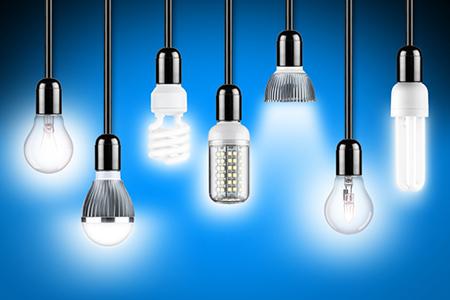lamp row blue