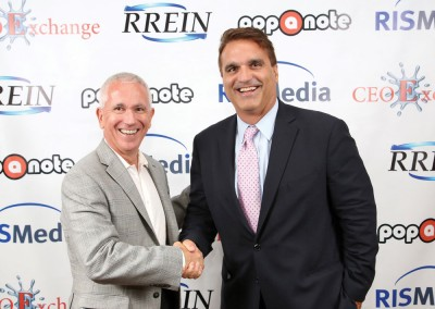 RISMedia CEO Exchange 2016: BH&G Rand Realty's Joe Rand (right) with Imprev's Bill Yaman