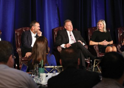 RISMedia CEO Exchange 2016: From left to right: Windermere's OB Jacobi; Latter & Blum's Rick Haase; BHHS New England's Candace Adams; and BHHS Select's Maryann Vitale Alles provide insights on 'The State of Real Estate: From Macro to Micro.'