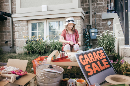 Hosting a Garage Sale Before Listing Your Home
