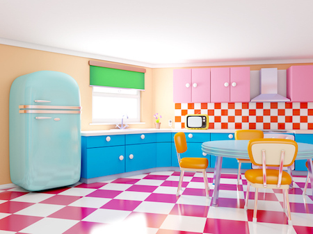 Trend Alert: Retro Kitchens Are Today's Big Thing