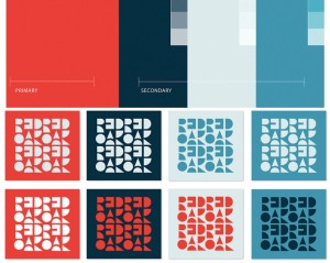 The company rebrand includes new colors and patterns developed by 1000 Watt Consulting.
