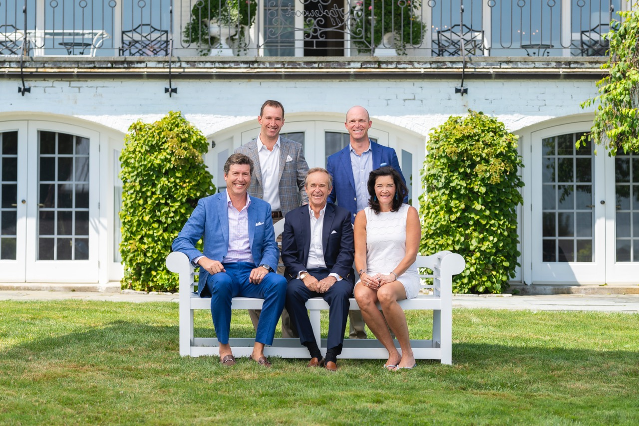 (Front, L to R) David Fite, Founder/Principal, The Fite Group; Bill Raveis, CEO/Chairman/Founder, William Raveis Real Estate (WRRE); Nadine Fite, CMO, The Fite Group; (Back, L to R) Ryan Raveis, Co-President, WRRE; Chris Raveis, Co-President, WRRE (Credit: Kyle Norton Photography/William Raveis Real Estate)