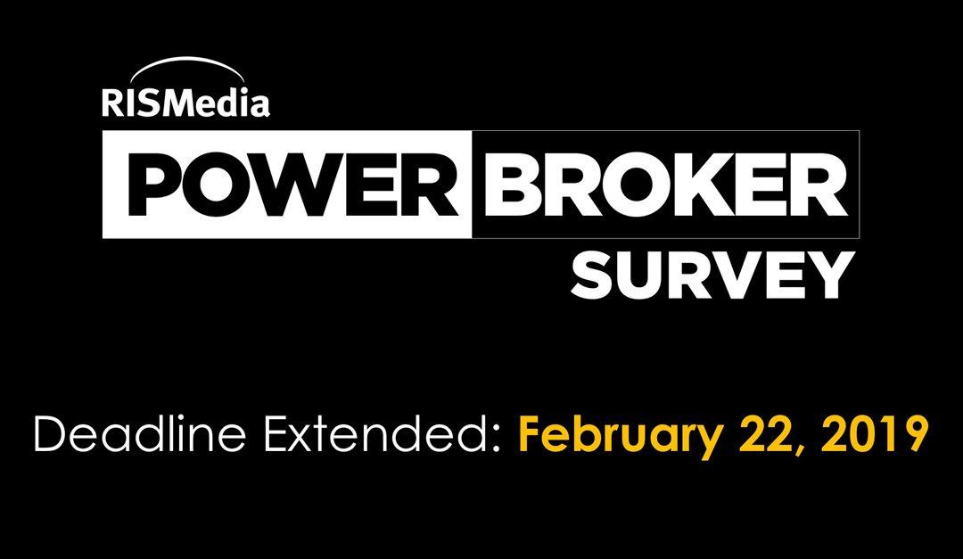 DEADLINE EXTENDED: Power Broker Survey Submission Deadline Extended to Feb. 22