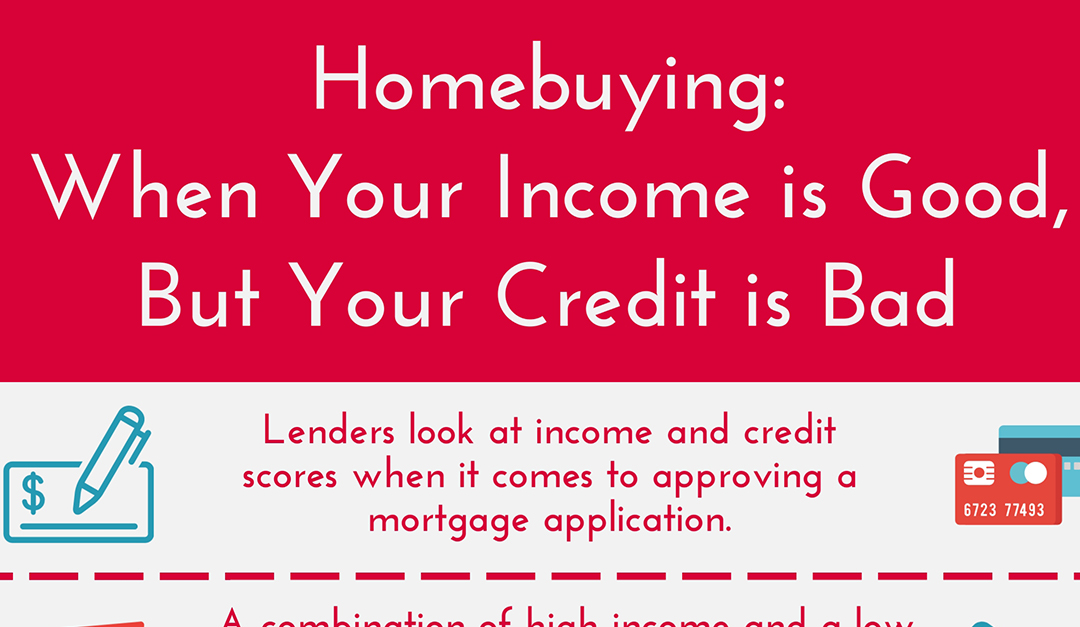 Home-Buying: When Your Income Is Good, but Your Credit Is Bad