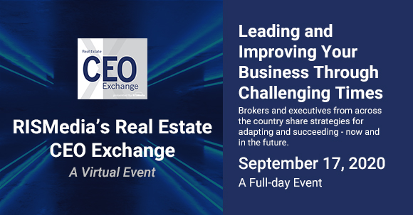 Register Today: Real Estate Leaders Discuss Critical Strategies During Virtual RISMedia CEO Exchange