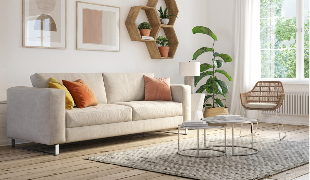 Bohemian Living Room Interior 3d Render Picture Id1182454305 Rismedia