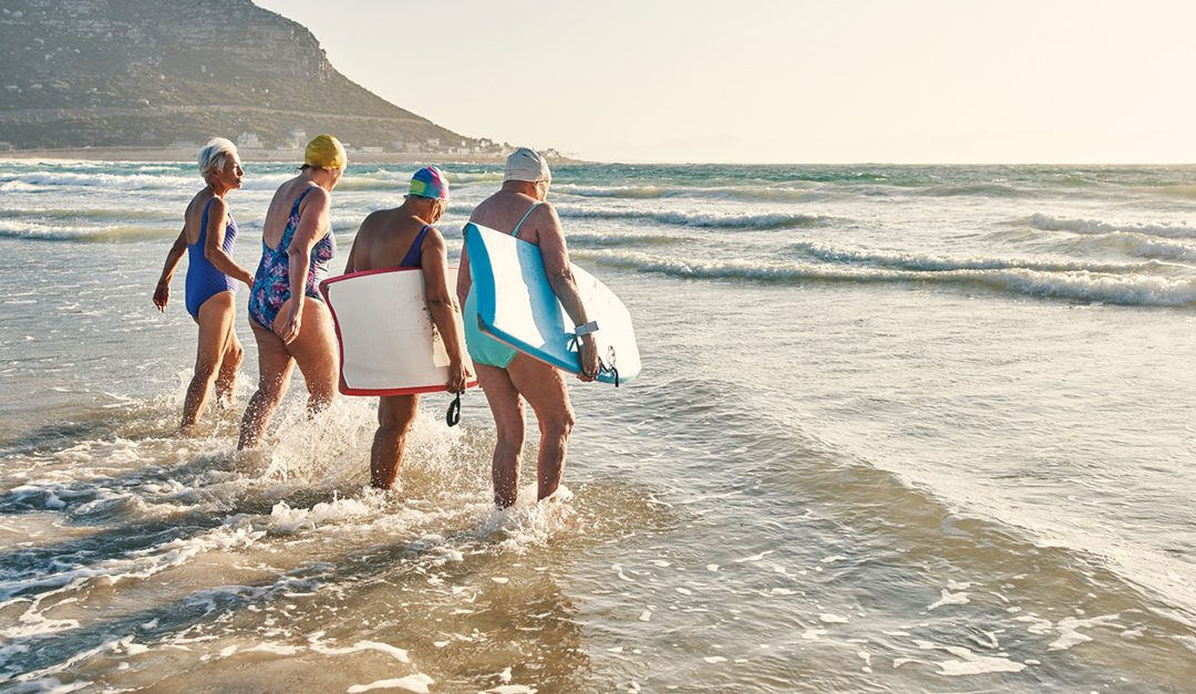 Surf's Up for Senior Women's Boogie Board Club